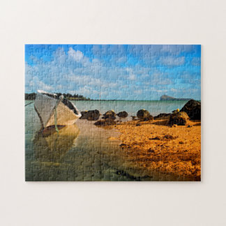 Fishing Boat On Mauritian Beach With Islet Puzzle