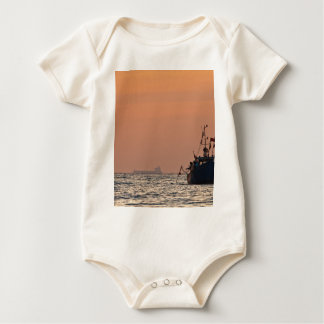 Fishing boat on the Baltic Sea Baby Bodysuit