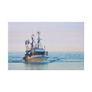Fishing boat on the Baltic Sea Canvas Print