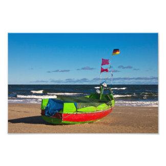 Fishing boat on the Baltic Sea coast Photo Print