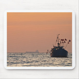 Fishing boat on the Baltic Sea Mouse Pad