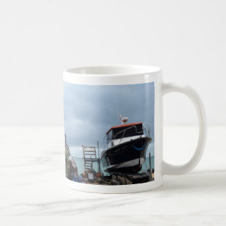 Fishing Boat On The Beach Coffee Mug