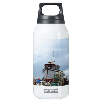 Fishing Boat On The Beach Insulated Water Bottle