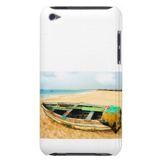 Fishing Boat on the Beach iPod Case-Mate Case