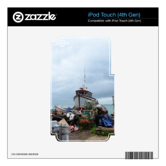Fishing Boat On The Beach iPod Touch 4G Skins