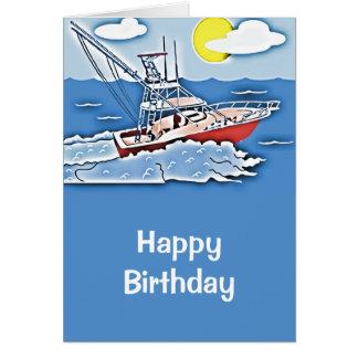 Fishing Boat on the High Seas Card