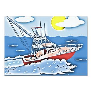 "Fishing Boat on the High Seas 5"" X 7"" Invitation Card"