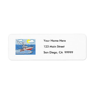 Fishing Boat on the High Seas Return Address Label