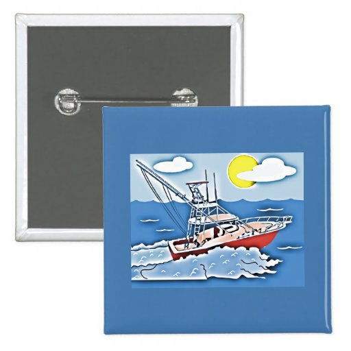 Fishing Boat on the High Seas Pins