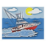 Fishing Boat on the High Seas Posters