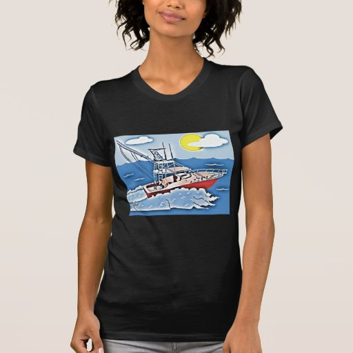 Fishing Boat on the High Seas T Shirts