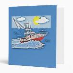 Fishing Boat on the High Seas Vinyl Binder