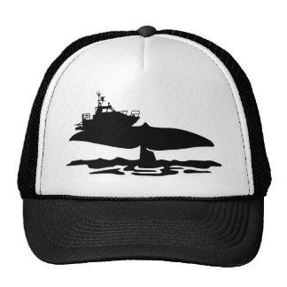 Fishing boat on whale tale by Sofia Youshi Trucker Hat