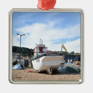 Fishing Boat Our Holly Metal Ornament