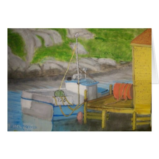 Fishing Boat - Peggys Cove Greeting Card