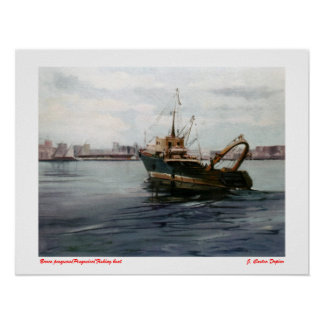 Fishing boat/Pesqueiro/Fishing boat Poster
