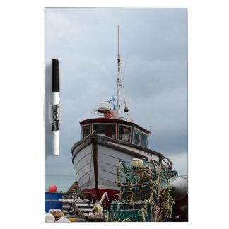 Fishing Boat Polar Bear Dry-Erase Board