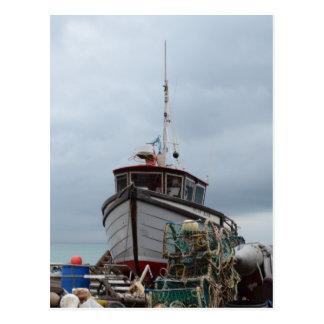 Fishing Boat Polar Bear Postcard