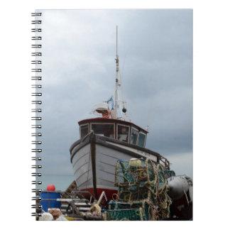 Fishing Boat Polar Bear Spiral Notebooks