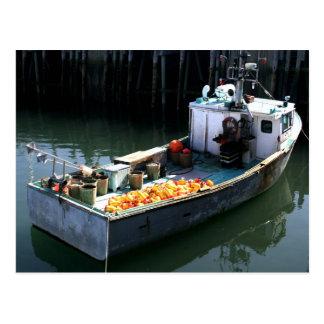 Fishing boat postcard