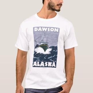 Fishing Boat Scene - Dawson, Alaska T-Shirt