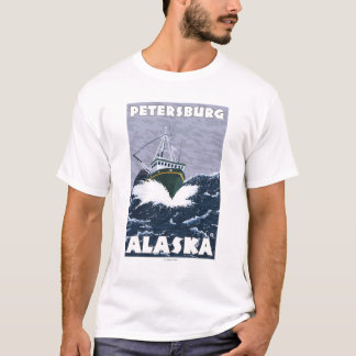 Fishing Boat Scene - Petersburg, Alaska T-Shirt
