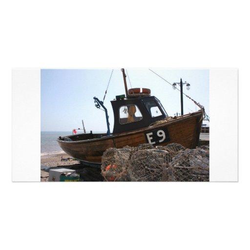 Fishing boat, Sidmouth, Devon, UK Photo Greeting Card