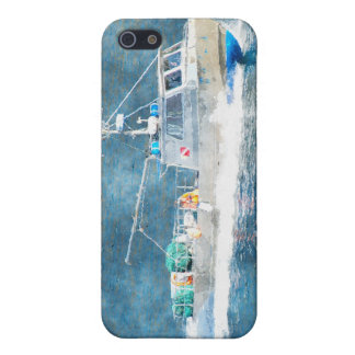 Fishing Boat Trawler Watercolour Art iPhone Case Cover For iPhone 5