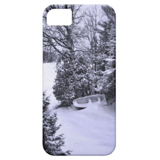 Fishing Boat, Winter Forest, Christmas Snowstorm iPhone SE/5/5s Case