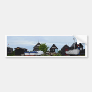 Fishing Boats and Fishermens' Huts Bumper Sticker