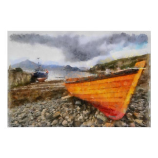Fishing boats at Elgol Poster