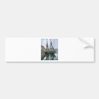Fishing Boats at Honfleur by Claude Monet Bumper Sticker