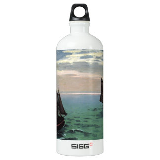 Fishing Boats at Sea Water Bottle