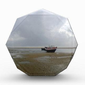 Fishing Boats at Seashore Acrylic Award