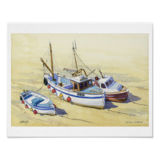 Fishing boats at St Ives, Cornwall Print