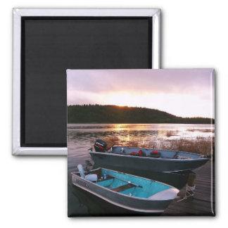 Fishing Boats at Sundown Fridge Magnet