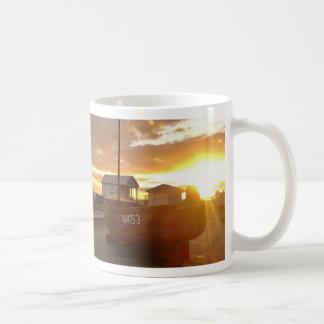 Fishing Boats At Sunset Coffee Mug