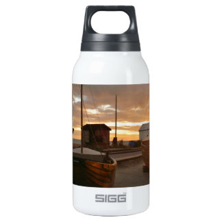 Fishing Boats At Sunset Insulated Water Bottle