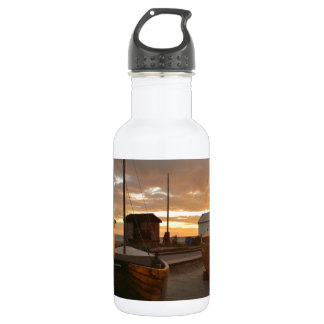 Fishing Boats At Sunset Water Bottle