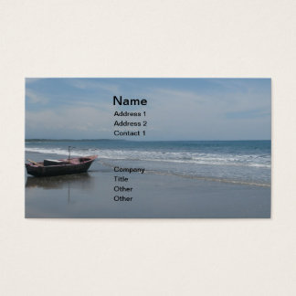 Fishing Boats at the Beach Business Card