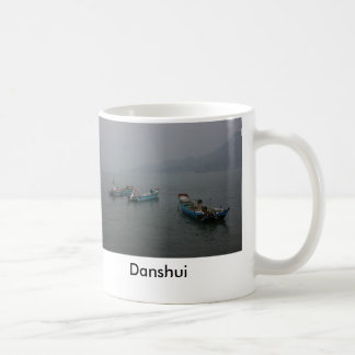 Fishing boats at twilight on the Danshui River Classic White Coffee Mug
