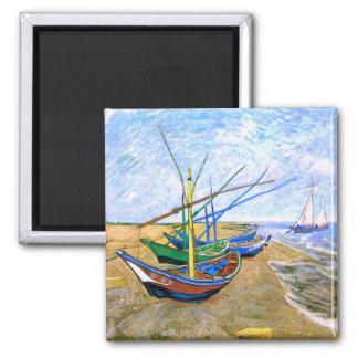 Fishing Boats Beach Saintes-Maries Van Gogh Fine Magnet