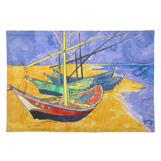 Fishing Boats Beach Saintes-Maries Van Gogh Fine Placemat
