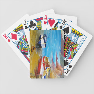 Fishing boats bicycle playing cards