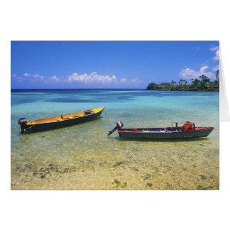 Fishing Boats, Boston Beach, Port Antonio, Card