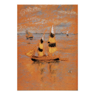 Fishing Boats by James Abbott McNeill Whistler Poster