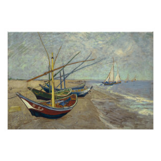 Fishing Boats by Vincent Van Gogh Poster