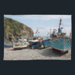 "Fishing Boats Cadgwith Cornwall England Kitchen Towel<br><div class=""desc"">Cadgwith is a small fishing village on the Lizard in Cornwall that has changed little over the years. The village of Cadgwith has earned its reputation of being one of the most scenic coves in Cornwall, with a pretty harbour and some lovely cottages. Cadgwith is still a working harbour and...</div>"