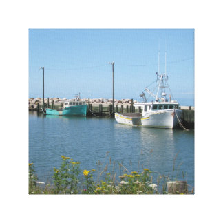 Fishing boats canvas