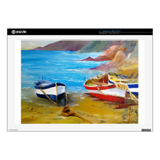 "Fishing boats decals for 17"" laptops"